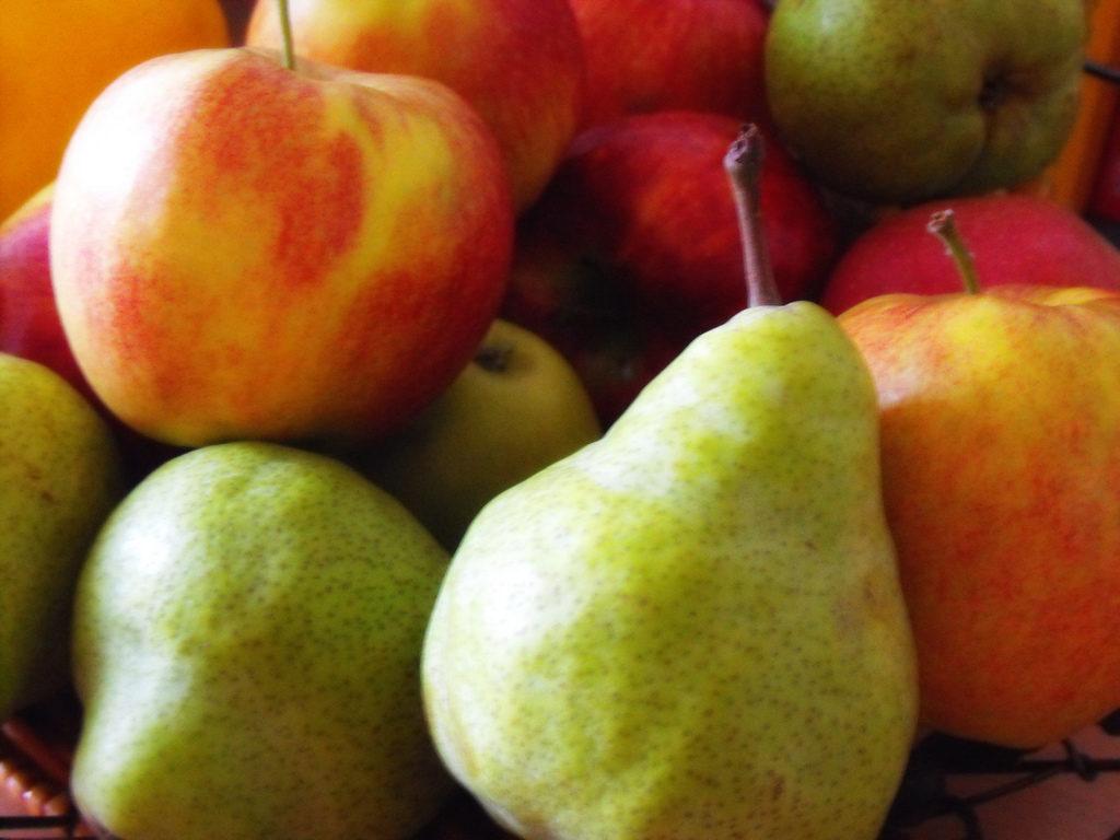 μήλα αχλάδια φυτικές ίνες