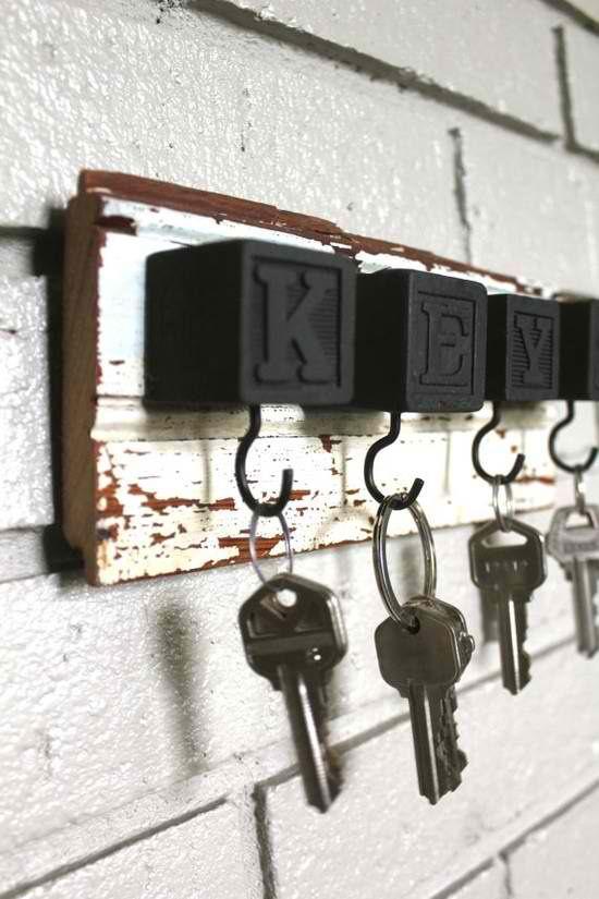 diy κλειδοθήκες